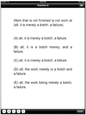 GMAT Sentence Correction Test Bank